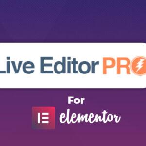 دانلود افزونه وردپرس Live Editor Pro برای المنتور