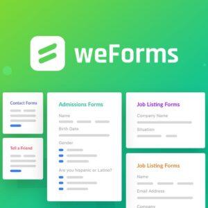 دانلود افزونه وردپرس فرم ساز weForms