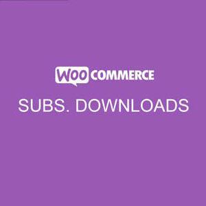 دانلود افزونه ووکامرس WooCommerce Subscription Downloads
