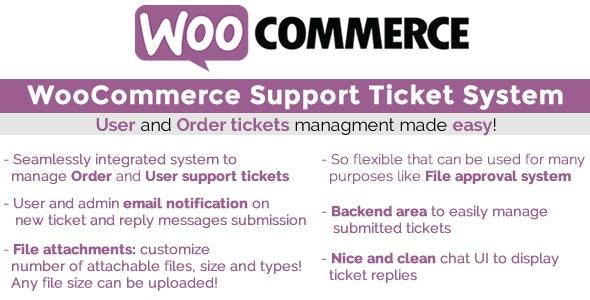 دانلود افزونه ووکامرس WooCommerce Support Ticket System