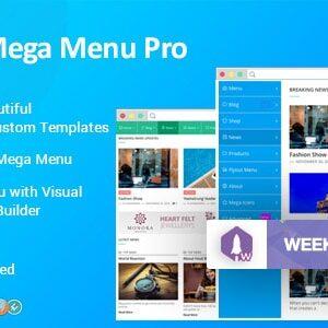 دانلود افزونه وردپرس مگامنو حرفه ای WP Mega Menu Pro