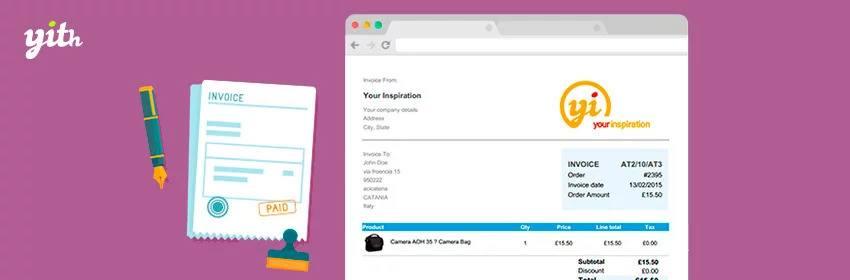 دانلود افزونه ووکامرس YITH PDF Invoice and Shipping List Premium