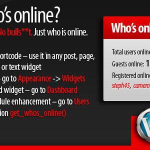 دانلود افزونه وردپرس نمایش کاربران آنلاین 5sec Who's Online