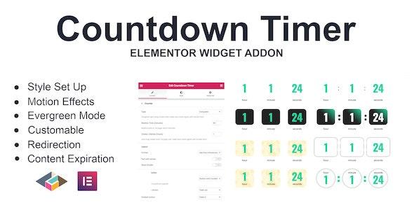 دانلود افزونه وردپرس Countdown Timer برای المنتور