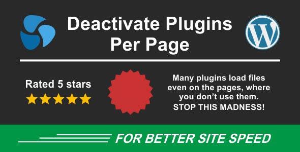 دانلود افزونه وردپرس Deactivate Plugins Per Page