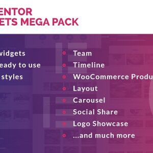 دانلود افزونه وردپرس Elementor Widgets Mega Pack برای المنتور