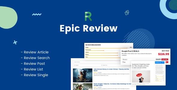 دانلود افزونه وردپرس نقد و بررسی Epic Review