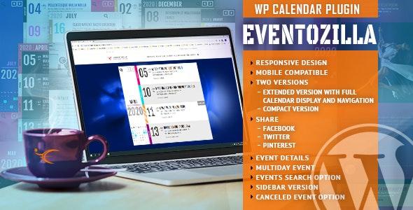 دانلود افزونه وردپرس تقویم رویداد EventZilla