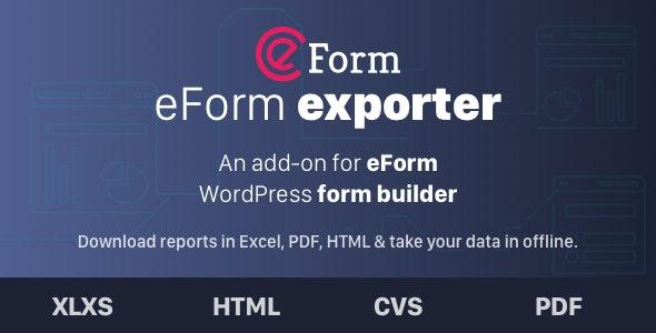 دانلود افزونه وردپرس برون ریزی اطلاعات Exporter for eForm