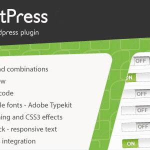 دانلود افزونه وردپرس مدیریت فونت ها FontPress