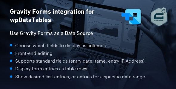 دانلود افزونه وردپرس Gravity Forms integration for wpDataTables