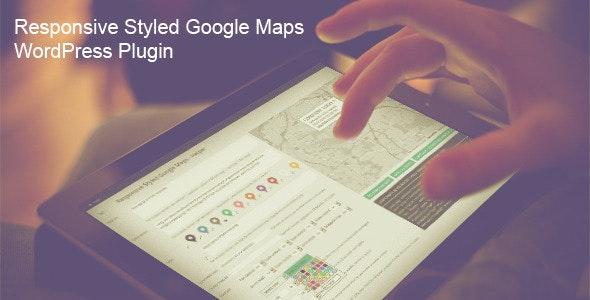 دانلود افزونه وردپرس Responsive Styled Google Maps
