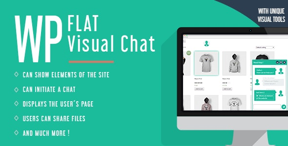 دانلود افزونه وردپرس چت و گفتگوی آنلاین WP Flat Visual Chat