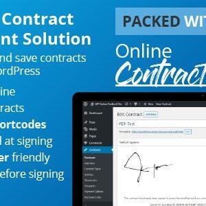 دانلود افزونه وردپرس مدیریت قراردادها WP Online Contract