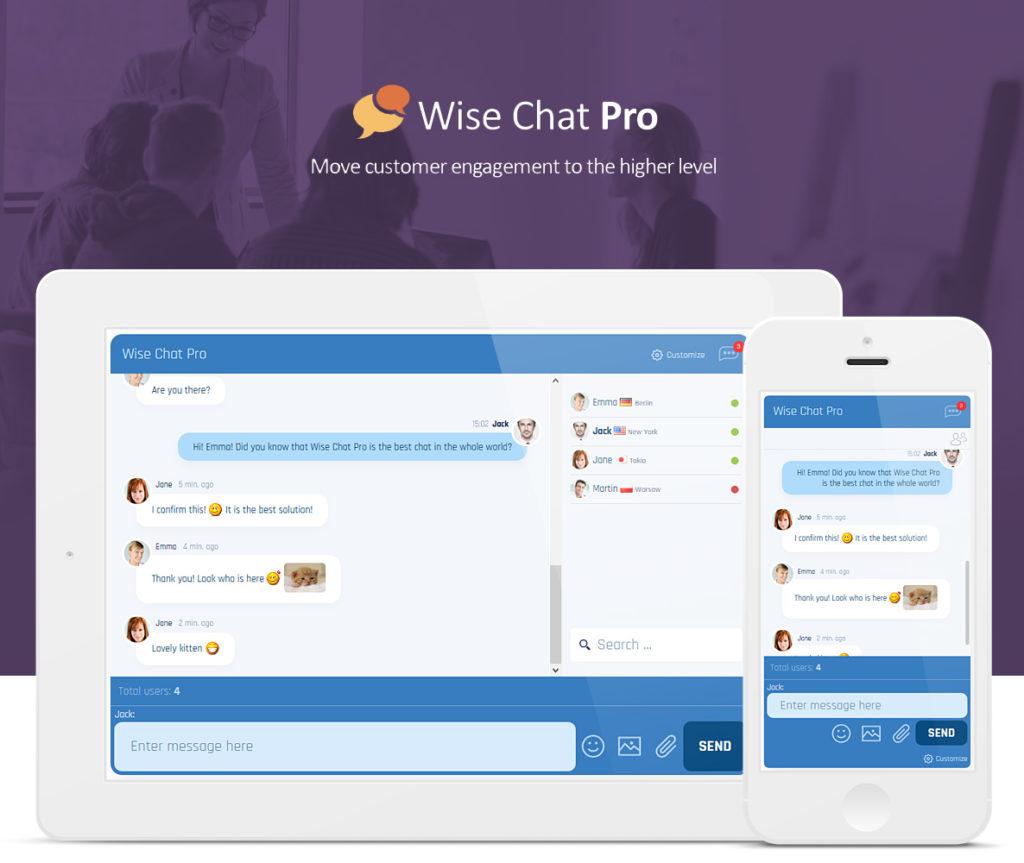 دانلود افزونه وردپرس گفتگوی زنده Wise Chat Pro