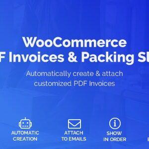 دانلود افزونه ووکامرس WooCommerce PDF Invoices & Packing Slips