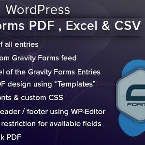 دانلود افزونه وردپرس WordPress Gravity Forms PDF Excel & CSV