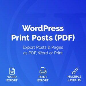 دانلود افزونه وردپرس WordPress Print Posts & Pages PDF