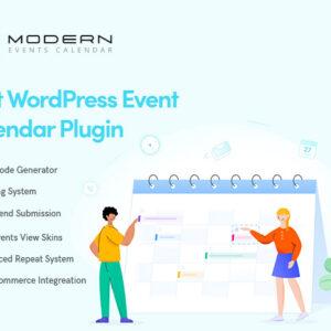 دانلود افزونه وردپرس تقویم Modern Events Calendar Pro