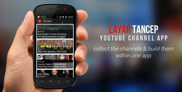 دانلود قالب اپلیکیشن اندرویید کانال های یوتوب Layar Tancep