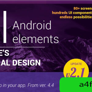 دانلود قالب اپلیکیشن اندروید Material Design UI Android Template App