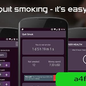 دانلود سورس اپلیکیشن Quit smoking (android)