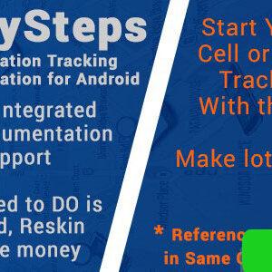 دانلود سورس اپلیکیشن MySteps with AdMob