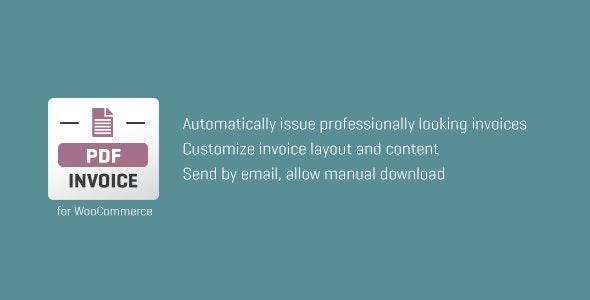 دانلود افزونه ووکامرس WooCommerce PDF Invoice