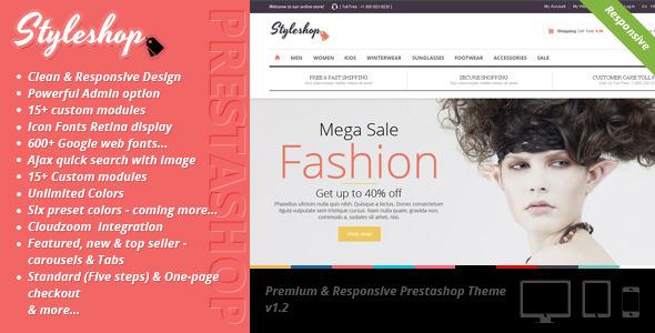 دانلود قالب فروشگاهی پرستاشاپ Styleshop