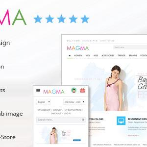 دانلود قالب فروشگاهی پرستاشاپ MAGMA