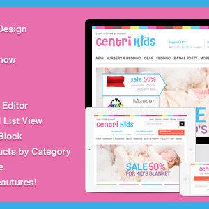 دانلود قالب فروشگاهی پرستاشاپ Kids Store