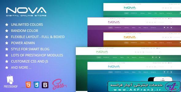 دانلود قالب فروشگاهی پرستاشاپ SNS Nova