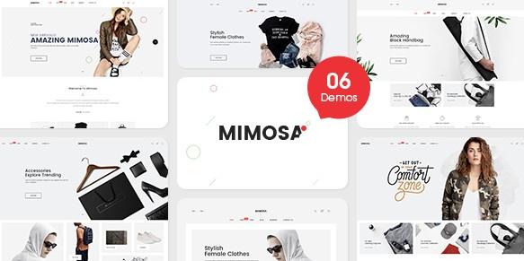 دانلود قالب فروشگاهی پرستاشاپ Mimosa