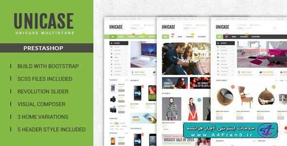 دانلود قالب فروشگاهی پرستاشاپ Unicase