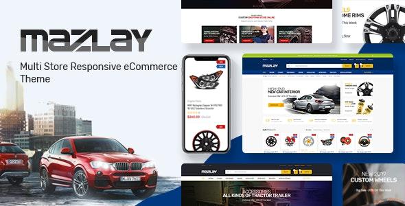 دانلود قالب فروشگاهی لوازم اتومبیل پرستاشاپ Mazlay
