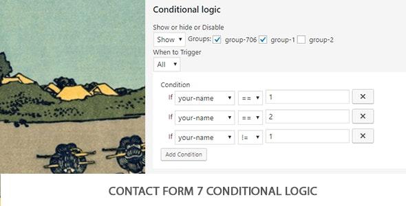 دانلود افزونه وردپرس Contact Form 7 Conditional Logic