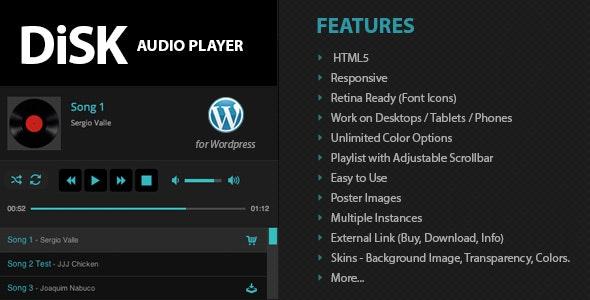 دانلود افزونه وردپرس پخش موسیقی Disk Audio Player