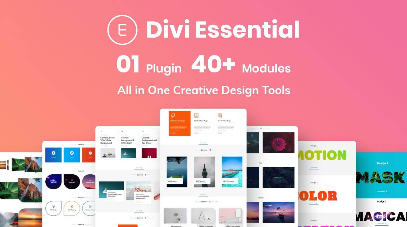 دانلود افزونه وردپرس دیوی اسنشیال Divi Essential