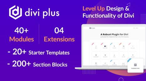 دانلود افزونه وردپرس سفارشی سازی قالب Divi Plus
