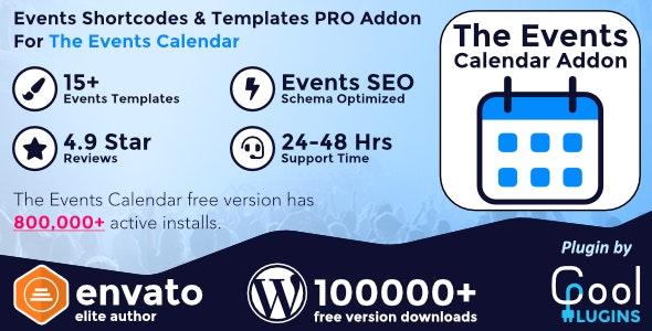 دانلود افزونه وردپرس Events Shortcodes & Templates Pro Addon
