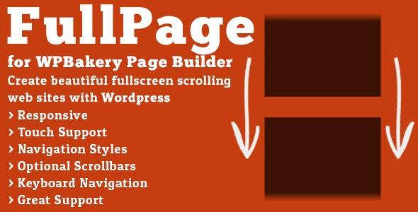 دانلود افزونه وردپرس FullPage برای wpbakery