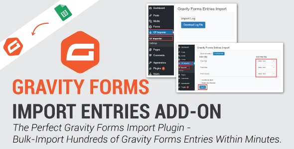 دانلود افزونه وردپرس Gravity Forms Import Entries