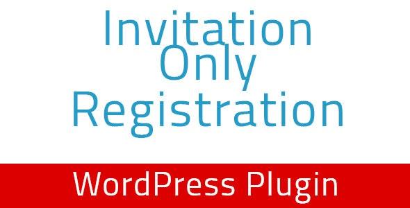 دانلود افزونه وردپرس Invitation Only Registration