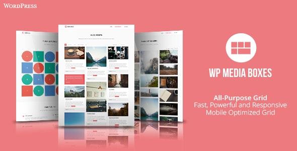 دانلود افزونه وردپرس نمونه کار WP Media Boxes Portfolio