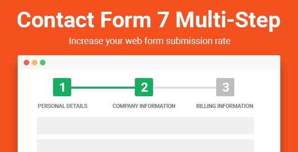 دانلود افزونه وردپرس فرم تماس Contact Form 7 Multi-Step