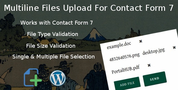 دانلود افزونه وردپرس Multiline files upload برای فرم تماس 7