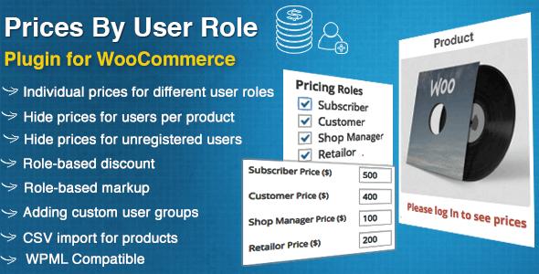 دانلود افزونه ووکامرس Prices By User Role for WooCommerce