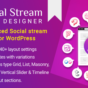 دانلود افزونه وردپرس Social Stream Designer