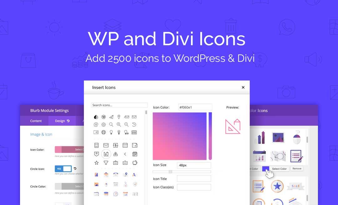 دانلود افزونه وردپرس WP and Divi Icons