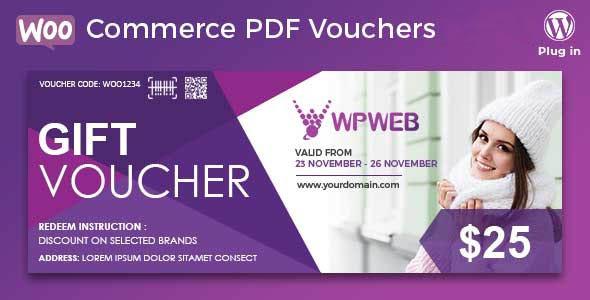 دانلود افزونه ووکامرس WooCommerce PDF Vouchers
